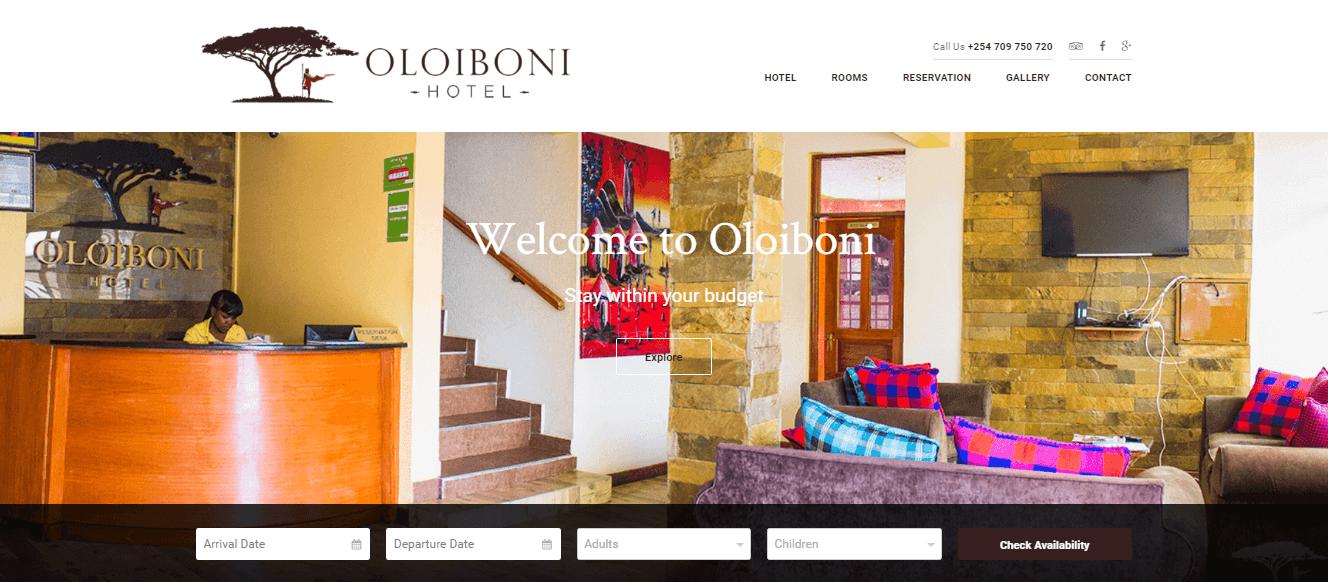 Oloiboni Hotel Homepage Image